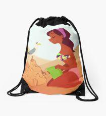Sand Castle Drawstring Bag