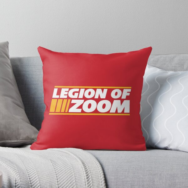 Legion of Zoom - Red Throw Pillow