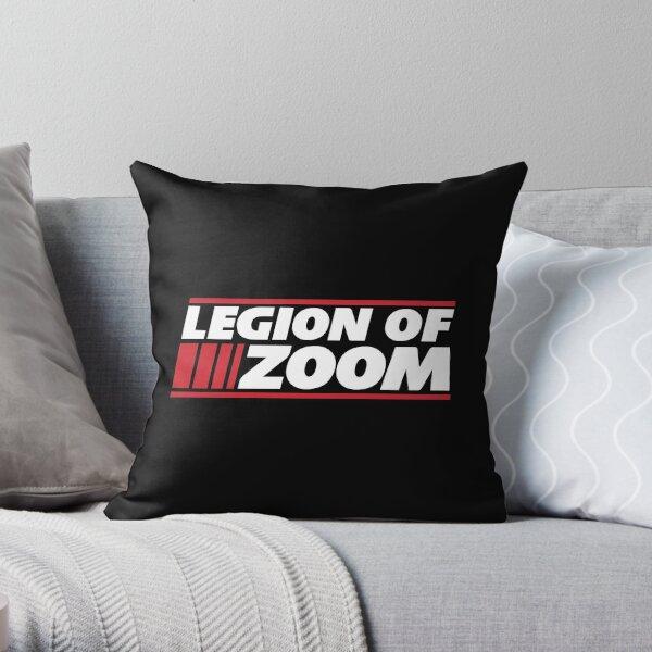 Legion of Zoom - Black Throw Pillow