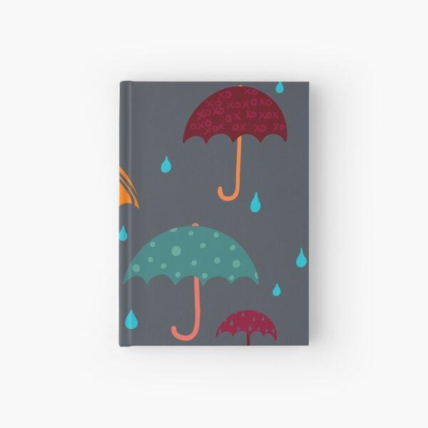 Bright Umbrellas in the Rain Hardcover Journal