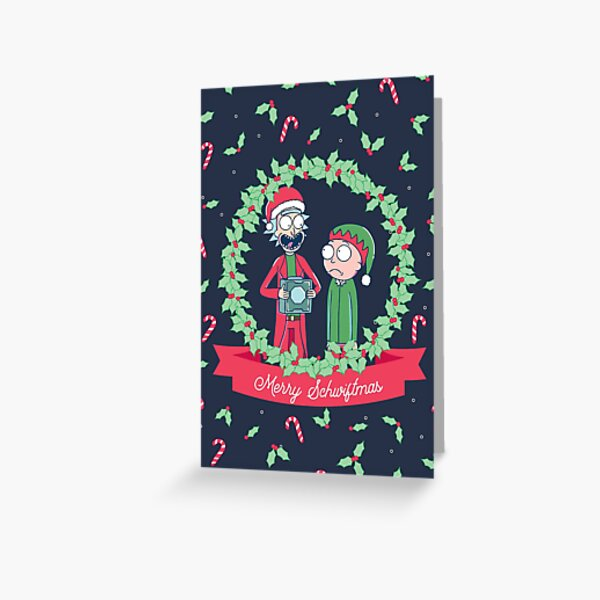 Merry Schwiftmas (Rick & Morty) Greeting Card
