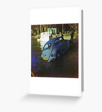 Deniliquin cool-off = Water-cooled V W Greeting Card