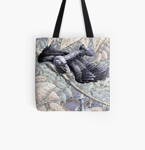 The Crow and the Pitcher All Over Print Tote Bag