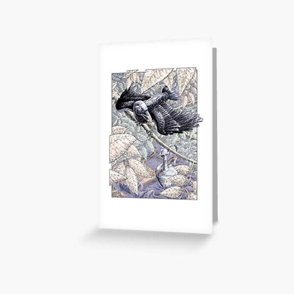 The Crow and the Pitcher Greeting Card