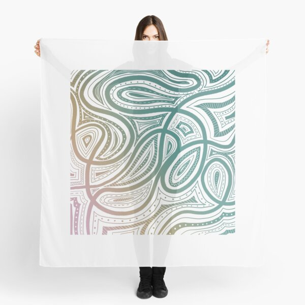 Ombre Abstract Curves Scarf