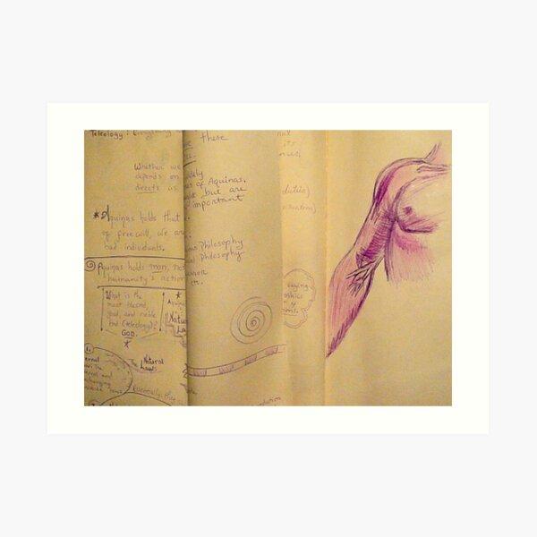 Philosophy Notes Art Print