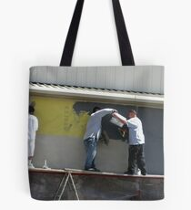 """""""GETTING PLASTERED"""" Part of a SERIES Tote Bag"""