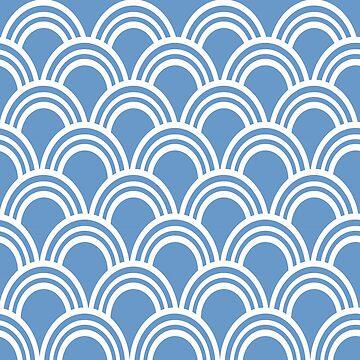 Blue Waves by OpenArt