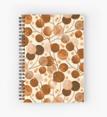 Pompom Plants in Earth Tones Spiral Notebook