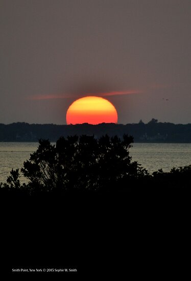 Sunset | Smith Point, New York by © Sophie W. Smith