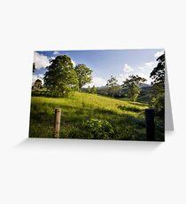 Rolling hills of Bellingen Greeting Card