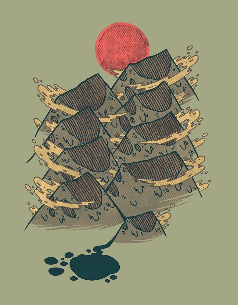 There's Chocolate in Those Mountains by Hector Mansilla