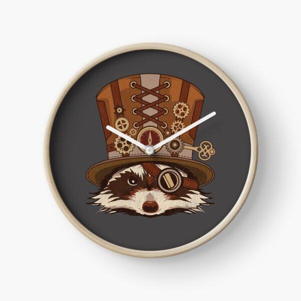 Cadeau Vintage Art Steampunk Animal Raton Laveur Horloge