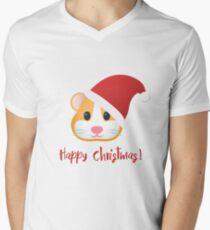 Happy Hamster Christmas V-Neck T-Shirt