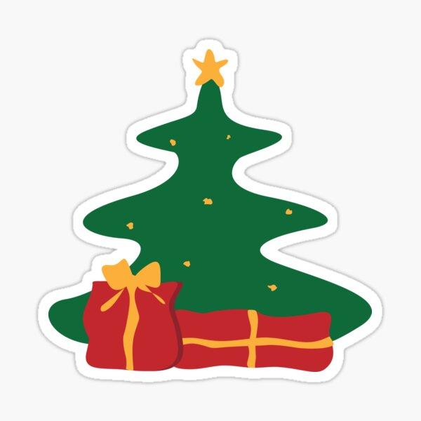 Christmas tree illustration Sticker