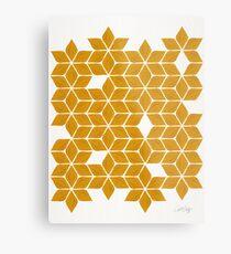 Weihnachtsstern-Sterne - Ringelblumen-Palette Metallbild