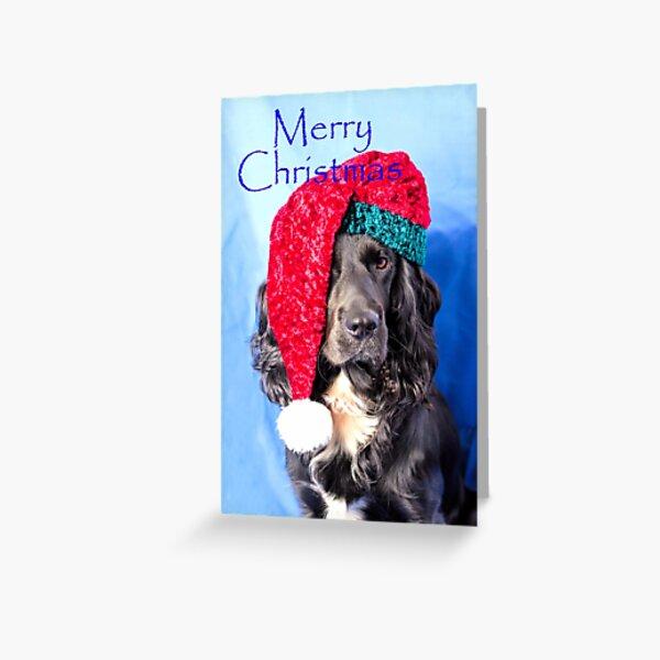 Merry Christmas Dog Greeting Card