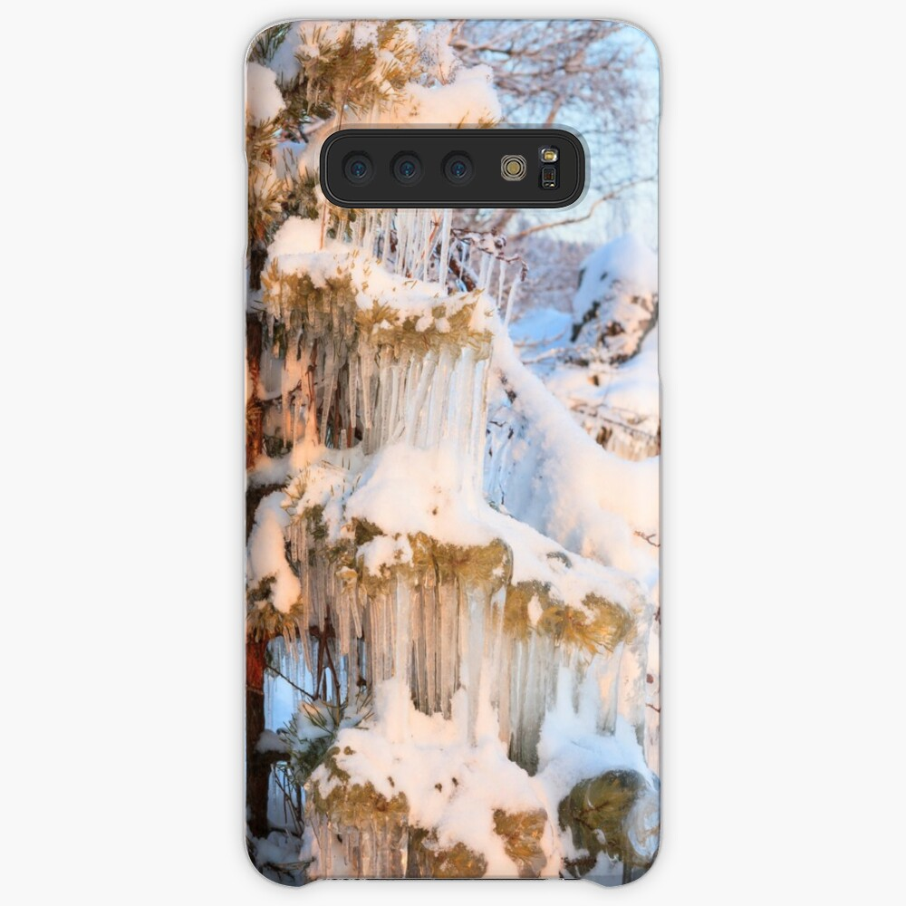 Beautiful icicles ice formation on small tree Case & Skin for Samsung Galaxy