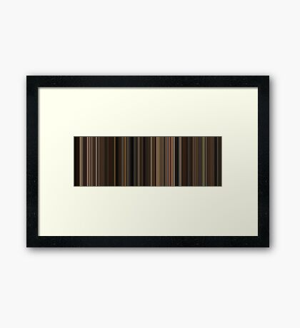 Moviebarcode: The Godfather (1972) [Simplified Colors] Framed Print