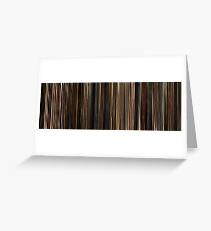 Moviebarcode: The Godfather (1972) Greeting Card