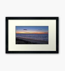 Sunset, Glenelg Beach, South Australia Framed Print