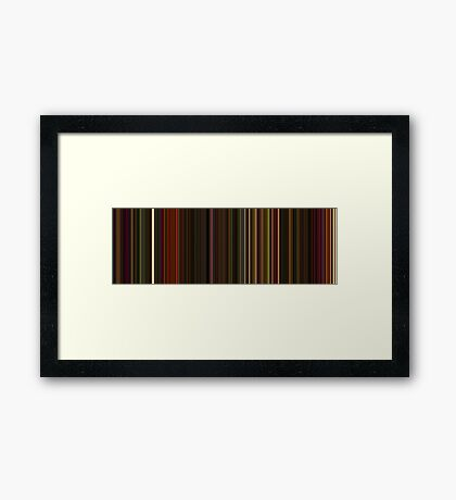 Moviebarcode: Enter the Void (2009) [Simplified Colors] Framed Print