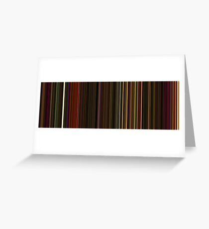Moviebarcode: Enter the Void (2009) [Simplified Colors] Greeting Card