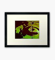 Green Drop Framed Print