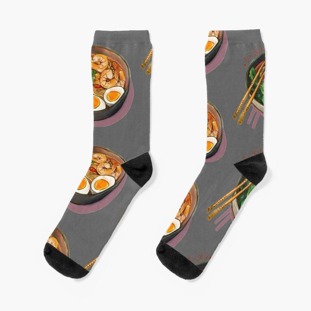 Japanses Ramen Noodles Bowl Socks