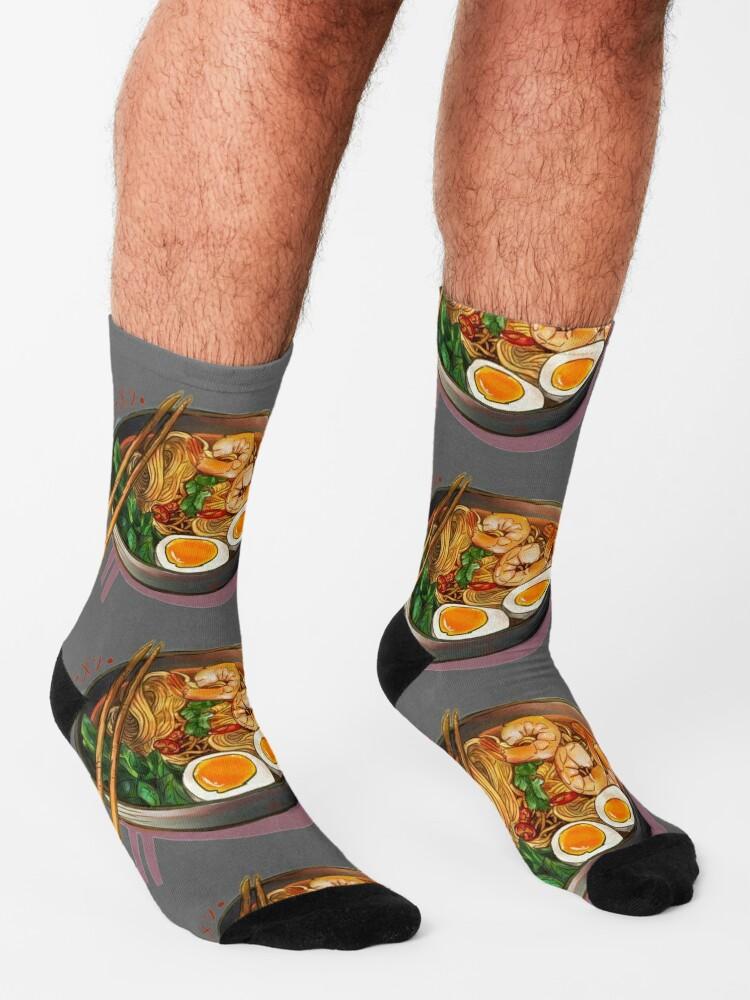Alternate view of Japanses Ramen Noodles Bowl Socks