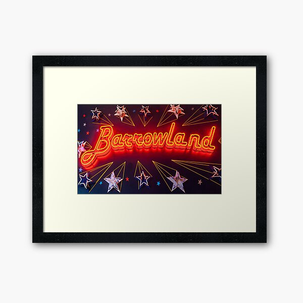 Neon Barrowland Framed Art Print