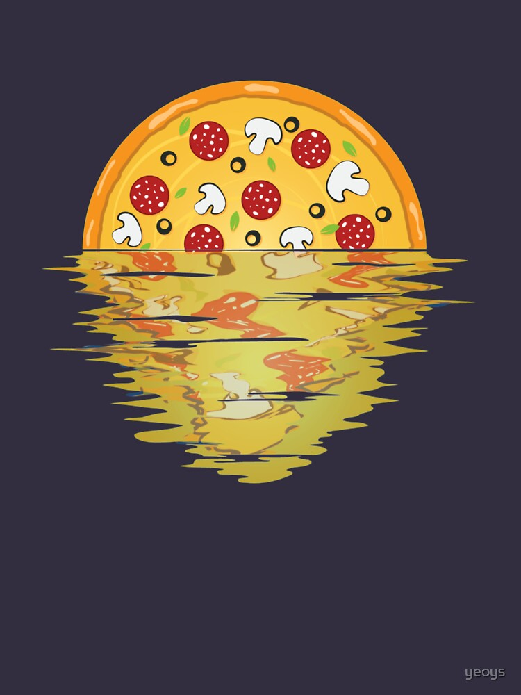 Pizza Sunset Over Sea - Pizza Party von yeoys