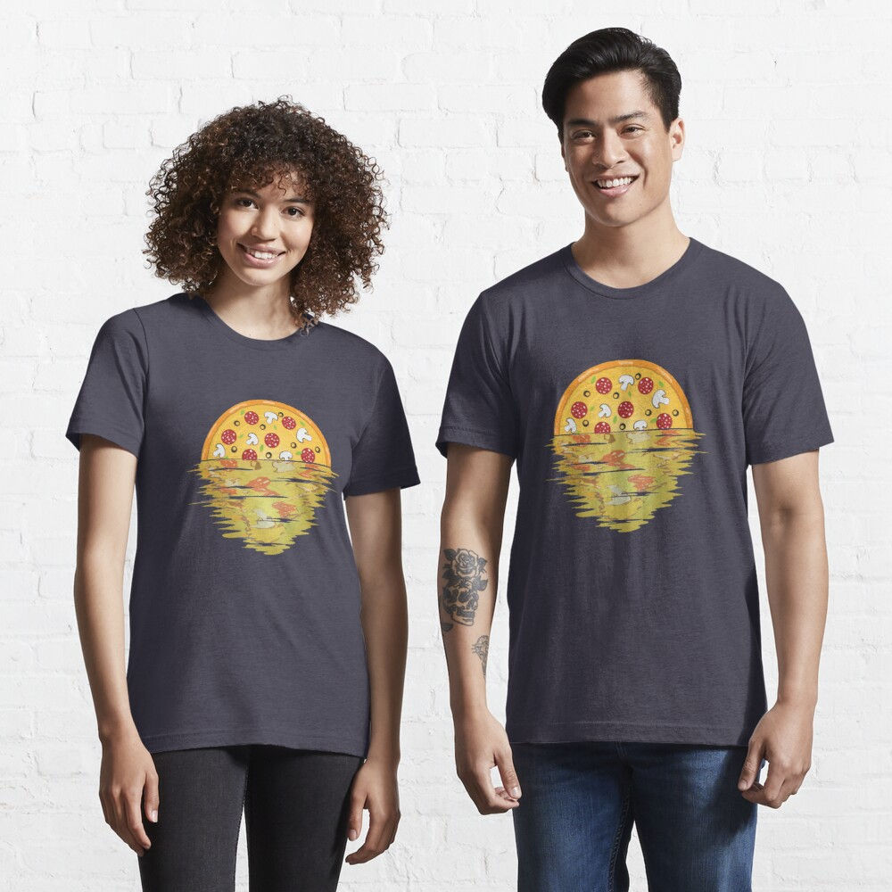 Pizza Sunset Over Sea - Pizza Party Essential T-Shirt