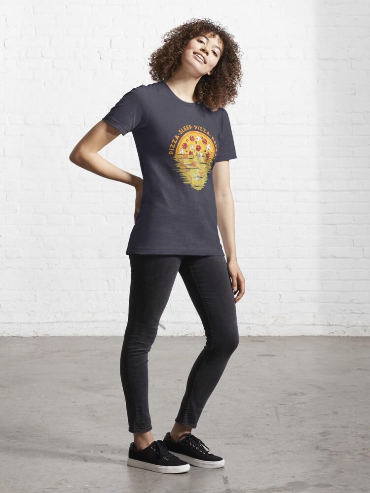 Alternative Ansicht von Pizza Sleep Pizza Repeat - Pizza Party Essential T-Shirt