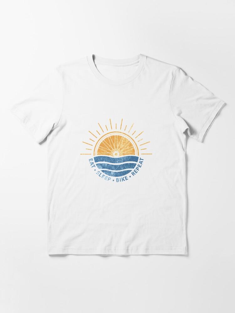 Alternate view of Eat Sleep Bike Repeat - Mountain bike Essential T-Shirt
