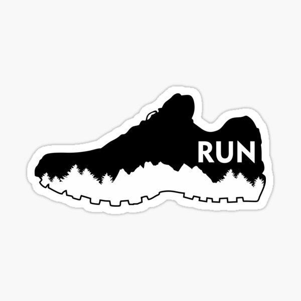 Trail running, running shoe Sticker