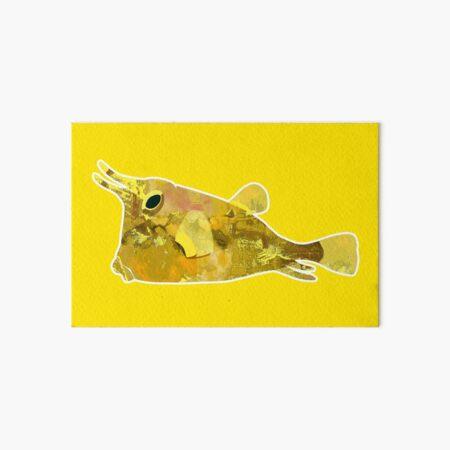 Yellow Longhorn Cowfish yellow! Art Board Print