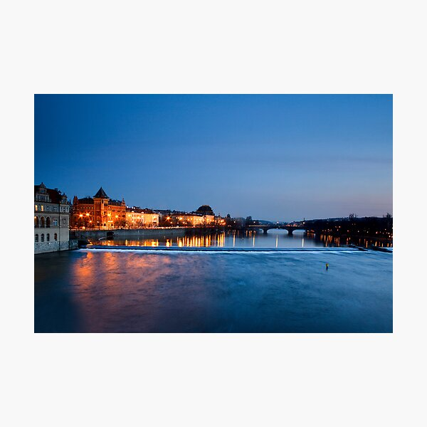Prague at Night Photographic Print