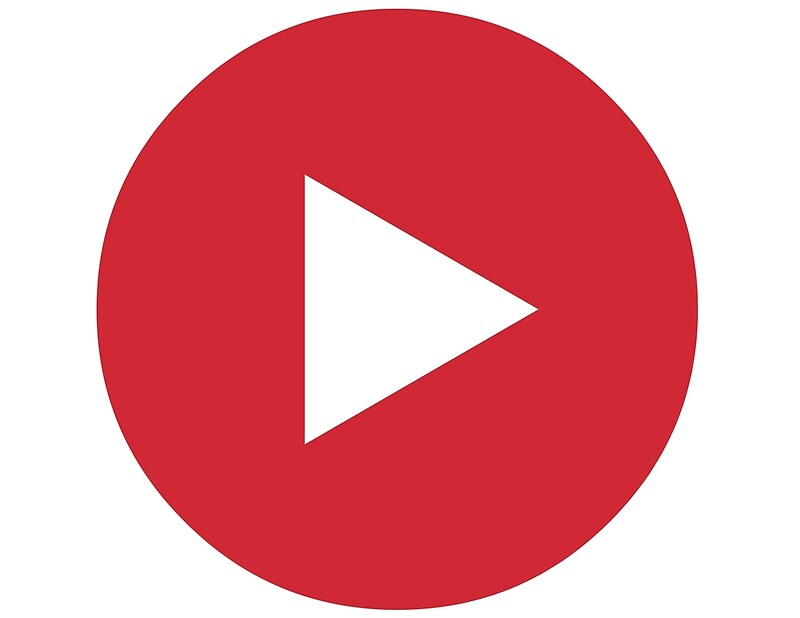 """""""Red Play Button"""" Art Prints by ReidDesign 