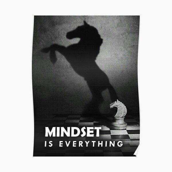 Mindset Is Everything Entrepreneur Motivation Horse Chess Poster