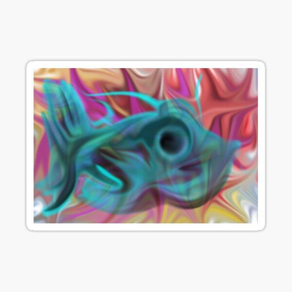 The Graffiti Fishy Fish Sticker