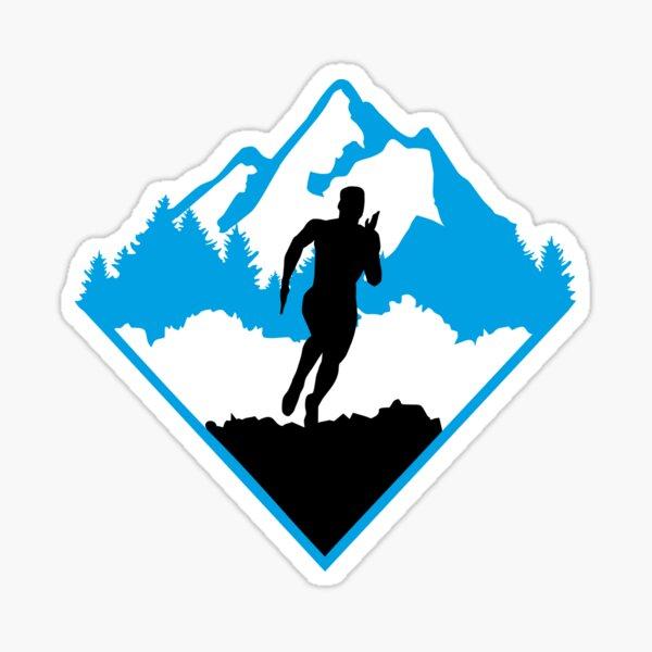 Trail running, runners, running Sticker