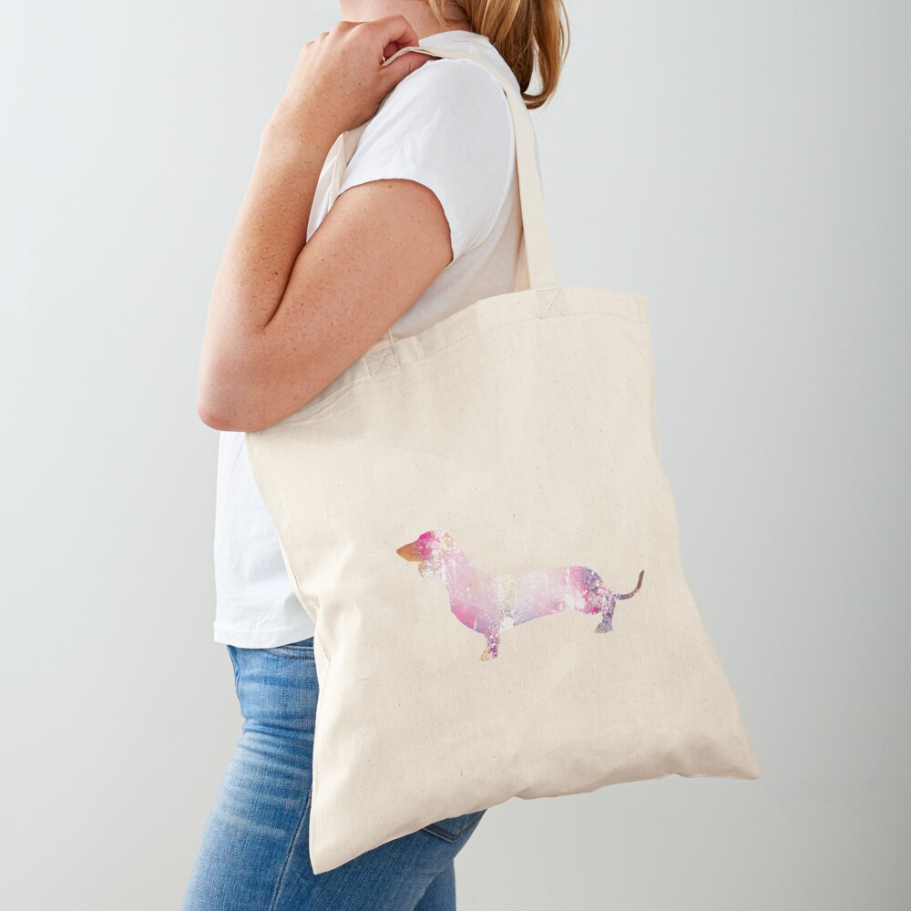 Paint Splash Dachshund Tote Bag