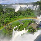 Rainbow at Iguasu Falls, Argentina by Stephen Tapply