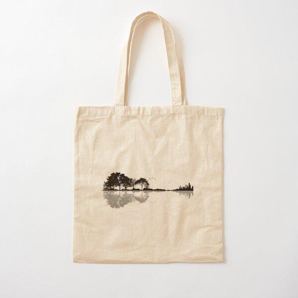 Nature Guitar Cotton Tote Bag