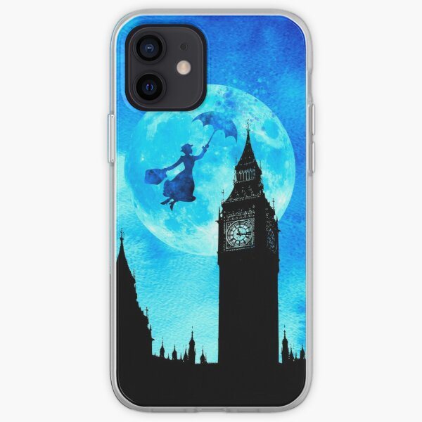 Magical Watercolor Night - Mary Poppins iPhone Soft Case