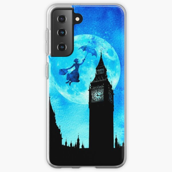 Magical Watercolor Night - Mary Poppins Samsung Galaxy Soft Case