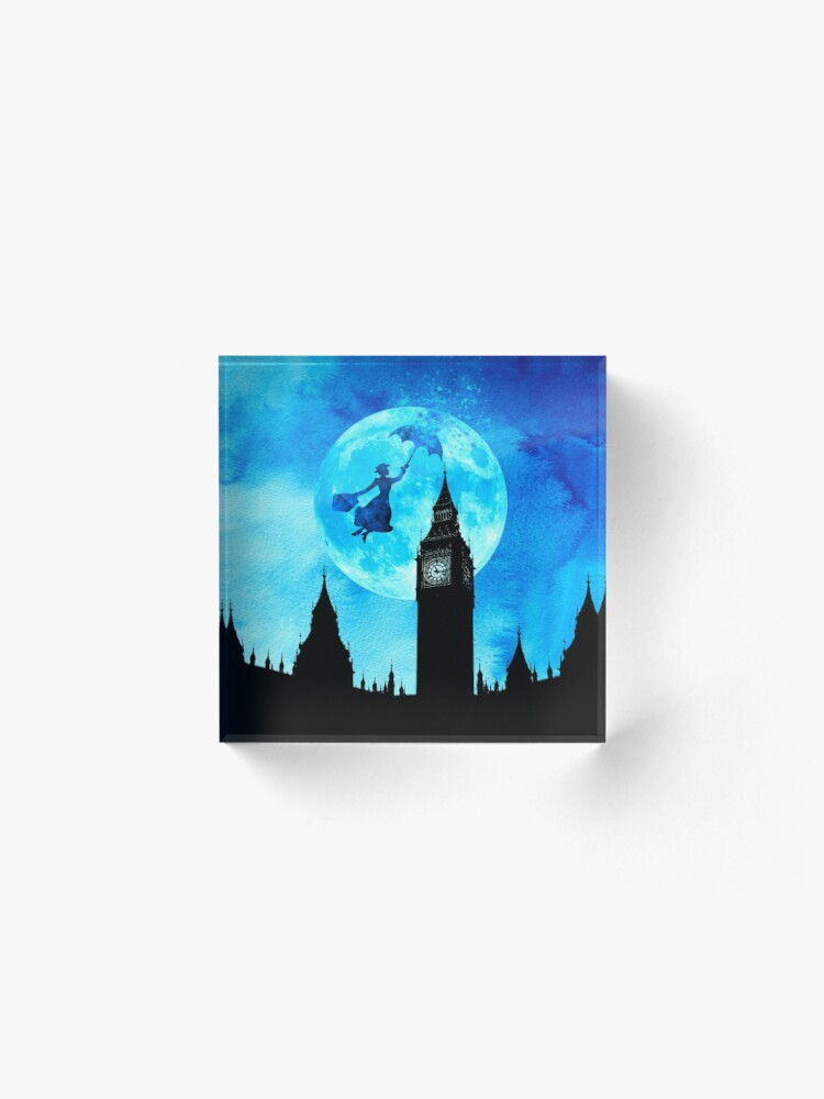Alternate view of Magical Watercolor Night - Mary Poppins Acrylic Block