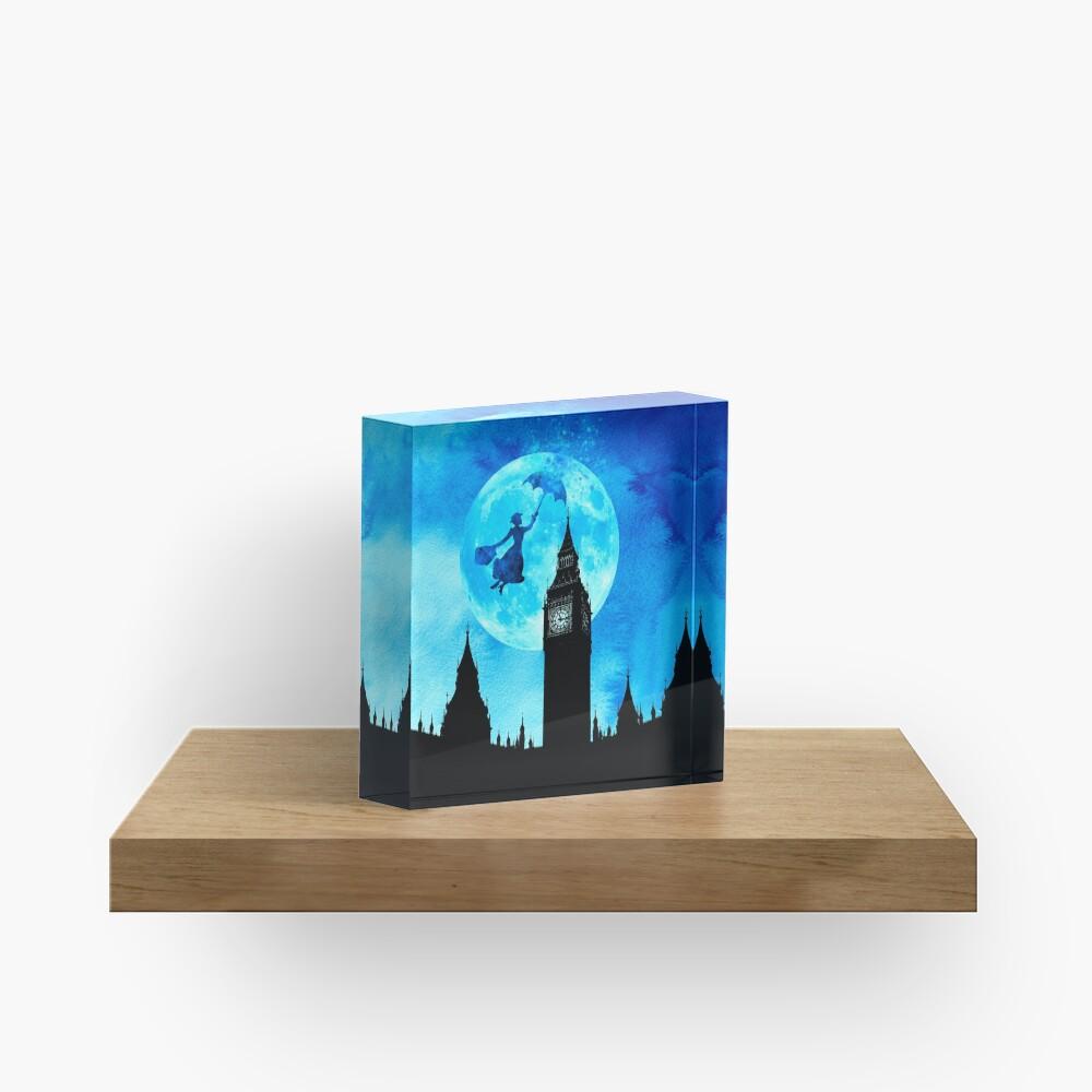 Magical Watercolor Night - Mary Poppins Acrylic Block
