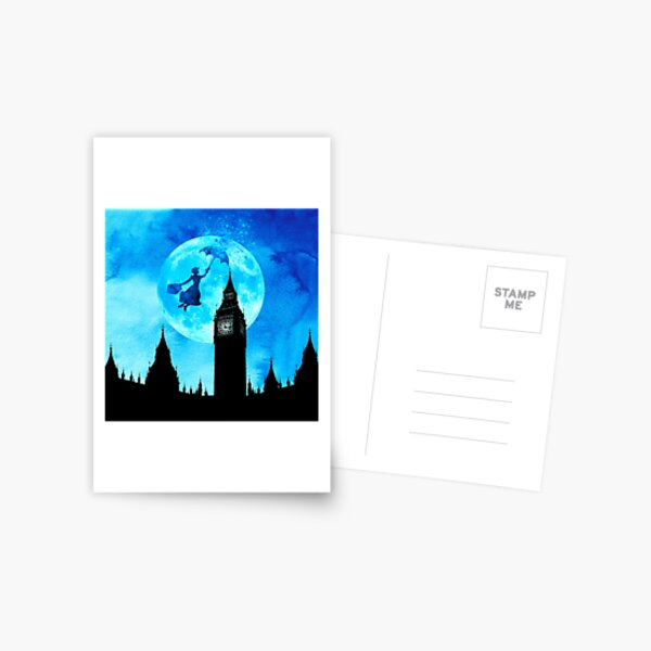 Magical Watercolor Night - Mary Poppins Postcard